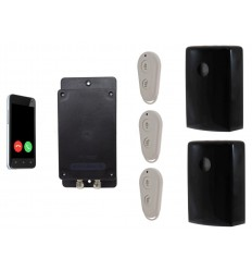Battery Covert & Silent GSM UltraDIAL Alarm with 2 x Outdoor UltraPIR's