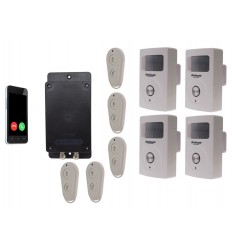 UltraDIAL Battery Covert GSM Alarm with 4 x BT PIR's