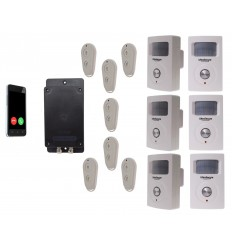 Battery GSM UltraDIAL Alarm with 6 x BT PIR's