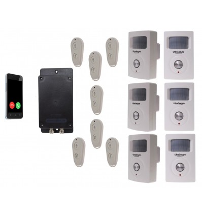 UltraDIAL Battery Covert GSM Alarm with 6 x BT PIR's
