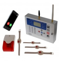 KP GSM Staff Safety & Panic Alarm with Wristband Panic Buttons