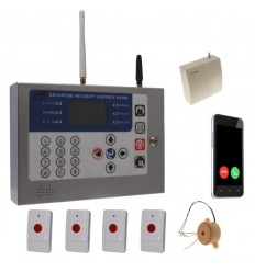 Long Range Wireless KP GSM Wireless Panic Alarm & Internal Siren
