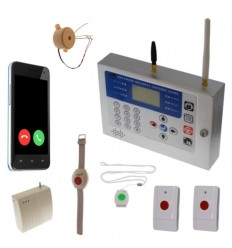 KP 400 metre GSM Safety Alarm, Internal Siren & 4 x Various Panic Buttons