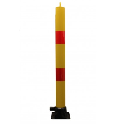 900mm High, Fold Down Parking Post & Red Band