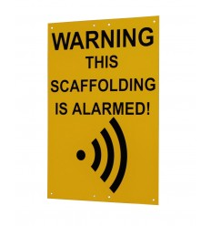 Large A3 Scaffold Warning Sign (This Scaffolding is Alarmed).