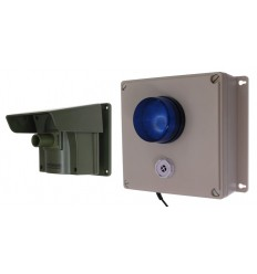 Protect 800 Driveway Alert with Outdoor Adjustable Siren & Flashing LED Receiver & New Pencil Beam Lens Cap