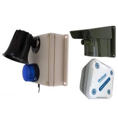 Protect-800 Driveway Alert with Loud Outdoor Siren Receiver & Indoor Receiver.