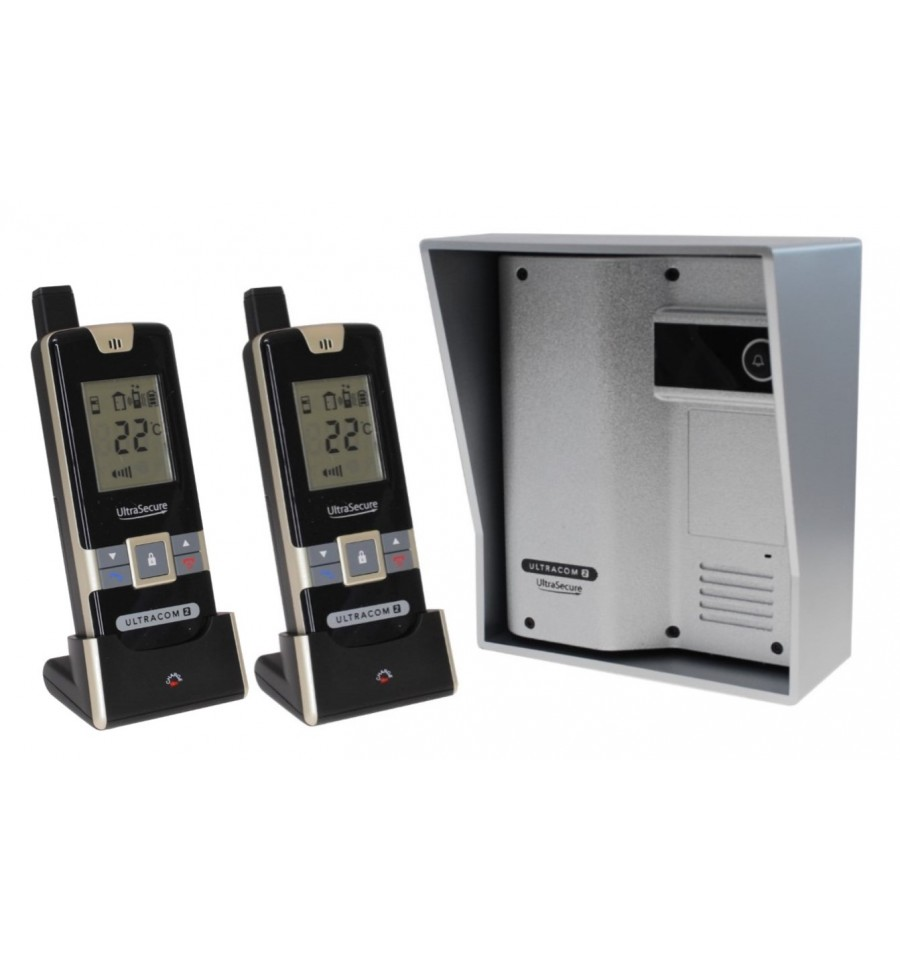 Wireless Gate Amp Door Intercom With 2 Handsets Ultracom2 Silver