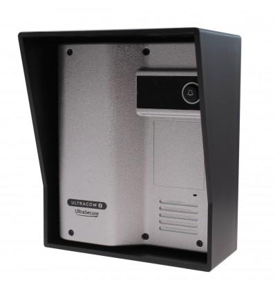 Caller Station for the Wireless Gate & Door Intercom (UltraCom2 No Keypad) Silver & Black Hood