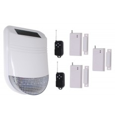 HY Solar Wireless Siren Alarm Kit 1
