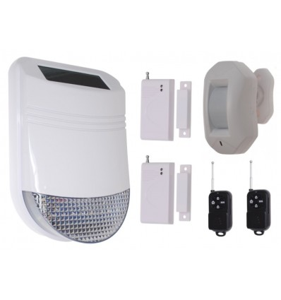 HY Solar Wireless Siren Alarm Kit 3