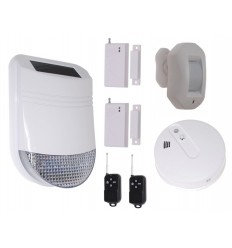 HY Solar Wireless Siren Alarm Kit 4