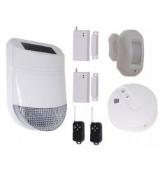 HY Solar Wireless Siren House Alarm Kit 4