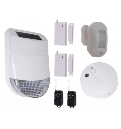 HY Solar Wireless Siren Alarm Kit 4