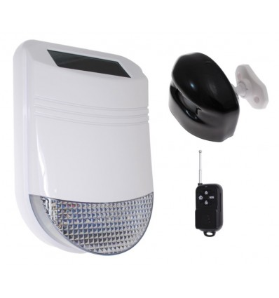 HY Outdoor Solar Wireless Siren Alarm Kit 1