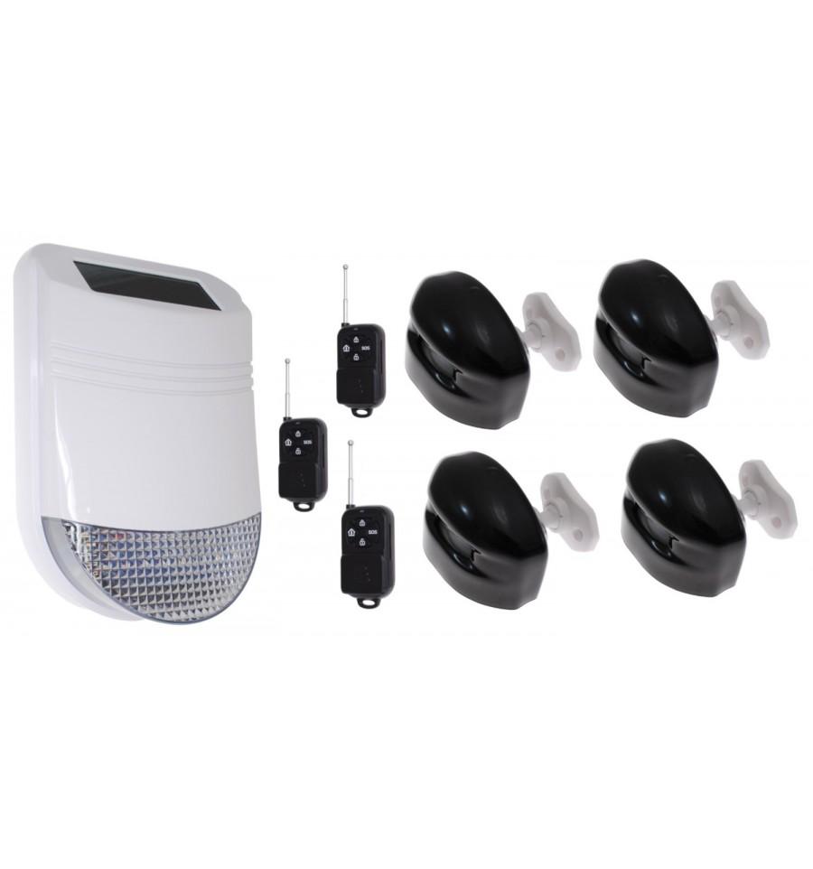 HY Outdoor Solar Wireless Solar Siren Alarm 3