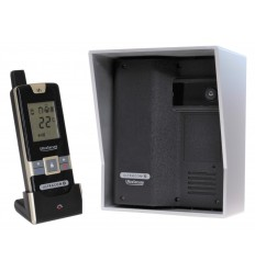 Wireless Gate & Door Intercom (UltraCom2 No keypad) Black with Silver Hood