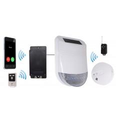 Wireless HY Solar Siren Smoke & Heat Alarm with Battery GSM Dialler