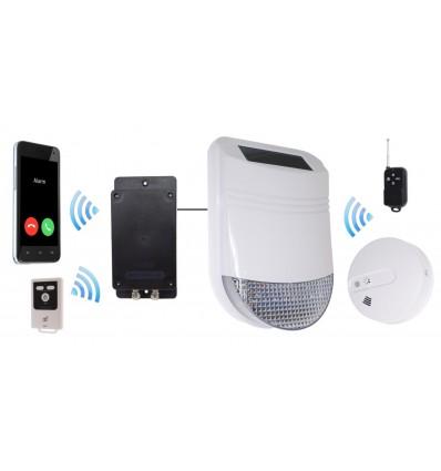 Battery & Solar Smoke & Heat GSM Alarm with Siren