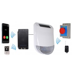 Wireless HY Yard Solar Siren Panic Alarm with Battery Auto-Dialler
