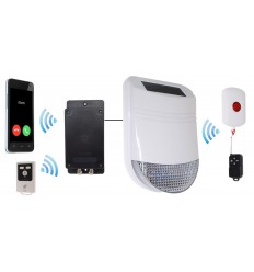 Wireless HY Solar Siren Panic Alarm with Battery Auto-Dialler