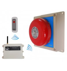 Extra Long Range (1800 metre) Wireless 'S' Bell System 2 with Internal Push Button