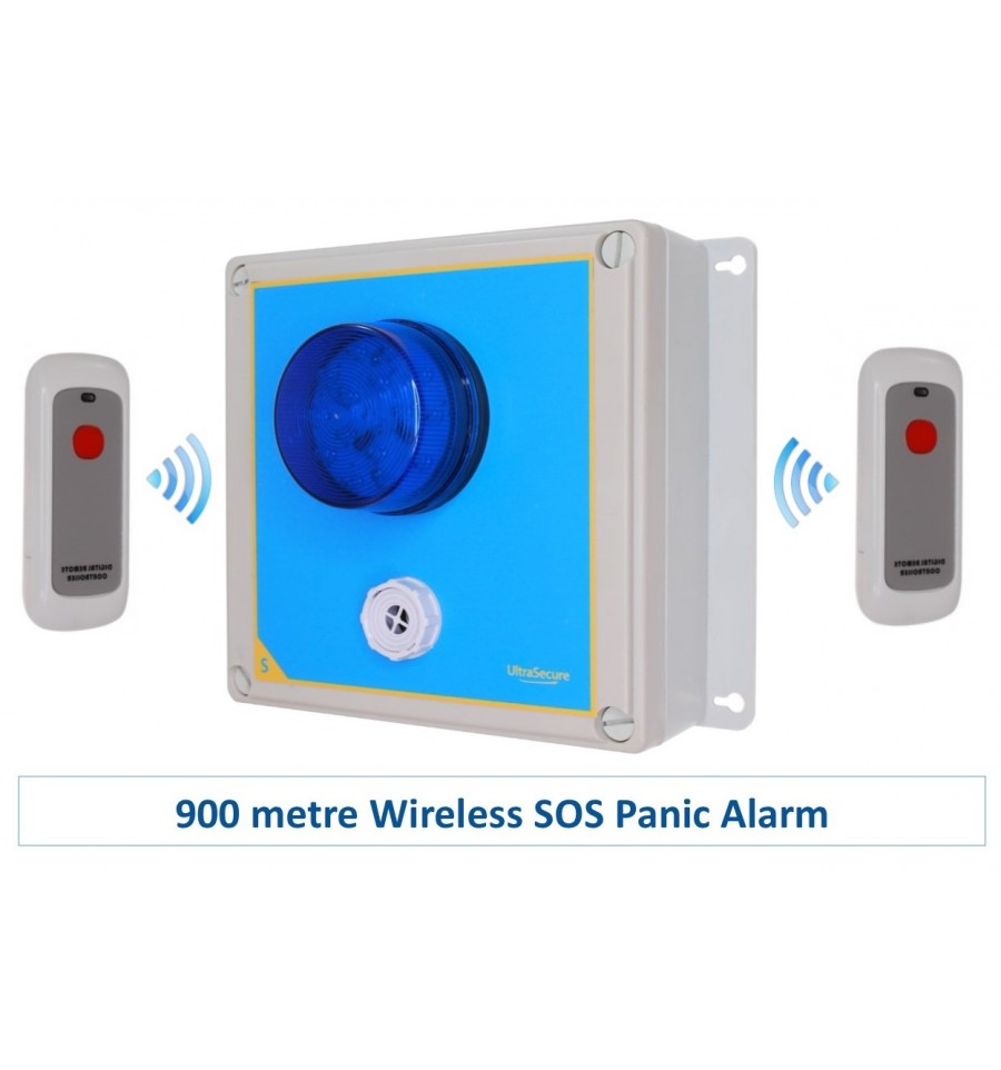 Dummy Alarm Box Blue or White Strobe Flashing LEDs with Blue Lens Long Lasting
