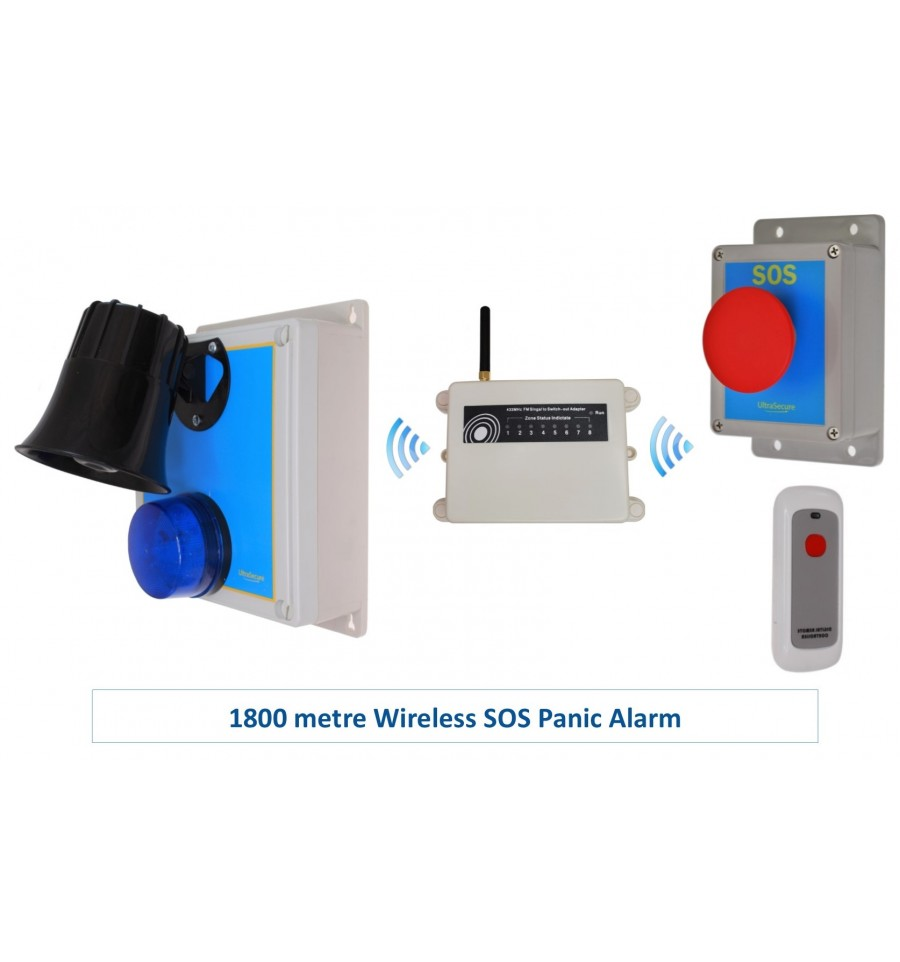 Extra Long Range Loud Wireless Panic Amp Lockdown Alarm S Range