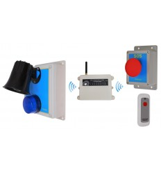 Extra Long Range 1800 metre Loud Wireless SOS & Lockdown Alarm