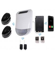HY Outdoor Solar Wireless Siren Alarm Kit 2 & Battery GSM Auto-Dialler