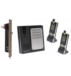 2 x Property 600 metre Wireless UltraCom Intercom with Electronic Door Latch