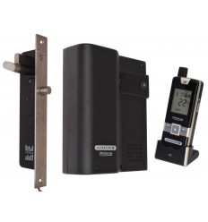 UltraCOM2 Black Wireless Door Intercom with Electronic Door Lock