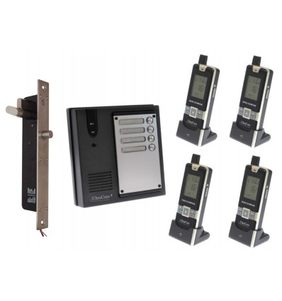 4 x Property 600 metre Wireless UltraCom Intercom with Electronic Door Latch
