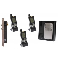 3 x Property 600 metre Wireless UltraCom Intercom with Electronic Door Latch