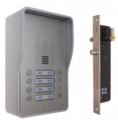 8 x Apartment 3G GSM Audio Intercom with Electronic Door Lock
