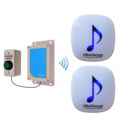 Medium range 600 metre Wireless DA600 Doorbell with 2 x Receivers