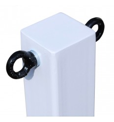 H/D White 100P Removable Security Post with 2 x Black Chain Eyelets (001-4010 K/D & 001-4000 K/A)