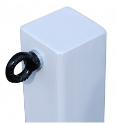 H/D White 100P Removable Security Post with 1 x L/H Black Chain Eyelet (001-4030 K/D & 001-4020 K/A)