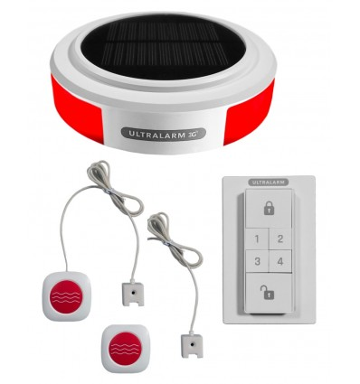 3G GSM Wireless Ultralarm Double Water Leak & Flood Alarm Kit
