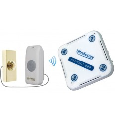 Long Range 800 metre Wireless Doorbell Kit with Brass Push Button (Protect 800)