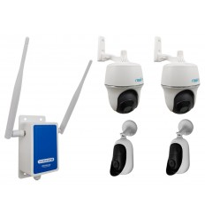 4G Wireless UltraCAM Router with 4 x Outdoor Battery Wifi Cameras (Reolink Argus + PT)