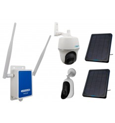 4G Wireless UltraCAM with 2 x Outdoor Battery Wifi Cameras (Reolink Argus + PT) & Solar Panels