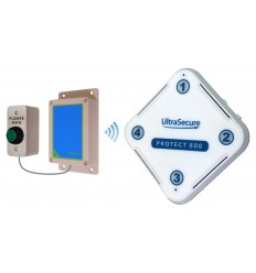 Protect 800 Wireless (800 metre) Doorbell with H/D 'Please Ring' Push Button & Std Receiver