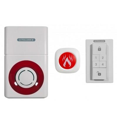 3G GSM Battery Ultralarm Smoke & Gas Detector Monitor Kit