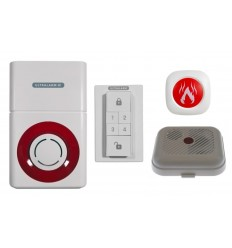 Battery Powered 3G Ultralarm with Smoke Detector & Wireless Monitor
