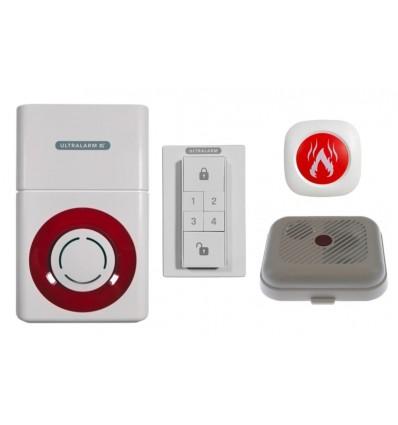 3G GSM Battery Ultralarm Smoke Detector Monitor Kit