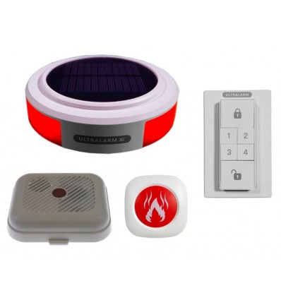 3G GSM Wireless Ultralarm Smoke Detector Monitor Kit