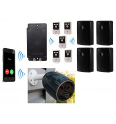Battery GSM UltraDIAL Alarm with 4 x Outdoor BT PIR's & 1 x Battery 4G Camera Kit