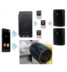 Battery GSM UltraDIAL Alarm with 2 x Outdoor BT PIR's & 1 x Battery 4G Camera Kit