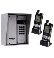Wireless Gate Intercom with Keypad & 2 x Handsets (UltraCom2) Silver & Silver Hood